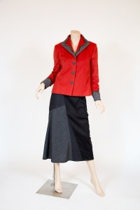 Melton Wool Jacket and Skirt