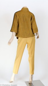 Speckled Wool Jacket and Wool Crepe Pants - Back View